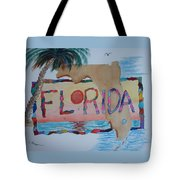 La Florida Flowered Land Tote Bag