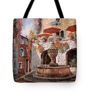 la fontana a St Paul de Vence Tote Bag by Guido Borelli