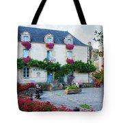 La Gacilly, Morbihan, Brittany, France, Town Hall Painting Tote Bag