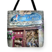 La Gacilly, Morbihan, Brittany, France, Wooden Toy Store Tote Bag