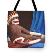 La Grande Sock Monkey Tote Bag