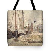 La Maria At Honfleur Tote Bag by Georges Pierre Seurat