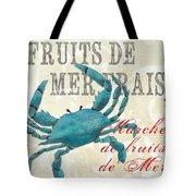 La Mer Shellfish 1 Tote Bag by Debbie DeWitt