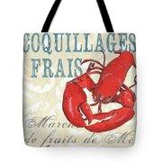 La Mer Shellfish 2 Tote Bag by Debbie DeWitt