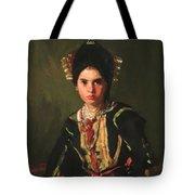 La Montera Segovia Girl In Fiesta Costume 1912 Tote Bag