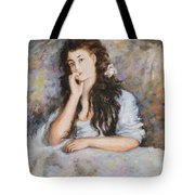 La Pensee My Reproduction Of Renoirs Work Tote Bag