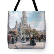 La Place De Trinite Tote Bag by Jean Francois Raffaelli
