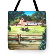 La Purisima With Fence Tote Bag