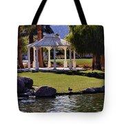 La Quinta Park Lake And Gazebo Tote Bag