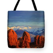 La Sal Mountains In Arches Np Utah Tote Bag