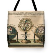 La Sphere Artificielle - Illustration Of The Globe - Celestial And Terrestrial Globes - Astrolabe Tote Bag