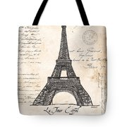 La Tour Eiffel Tote Bag by Debbie DeWitt