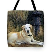 Lab And Fire Hydrant Tote Bag