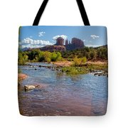 Lab In River At Sedona Arizona Tote Bag