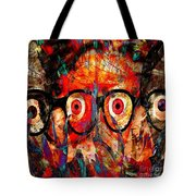 Label The Brain Through The Eyes - Lords Of Madness Tote Bag