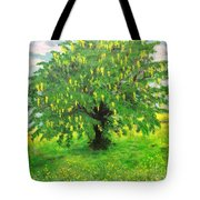 Laburnum Tree In Splendid Isolation Tote Bag