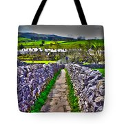 Labyrinth Of Grassington Tote Bag
