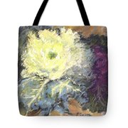 Lace Curtin Cabbage Tote Bag
