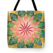 Lacey Petals Mandala Tote Bag by Andrea Thompson
