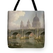 Blackfriars Bridge And St Paul's Cathedral Tote Bag
