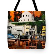 Laconner Waterfront Art Panel Tote Bag