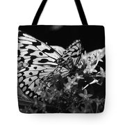 Lacy Black And White Tote Bag