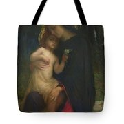 Laddolorata Tote Bag by Antoine Auguste Ernest Herbert or Hebert