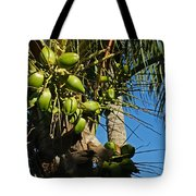 Laden Palm Tree Tote Bag