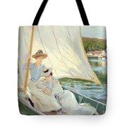 Ladies In A Sailing Boat  Tote Bag