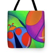 Ladies On A Leaf Tote Bag