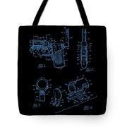 Ladies Pistol Compact Patent Art Tote Bag