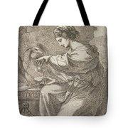 Lady And Eagle Tote Bag