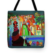 Lady And Her Cat Tote Bag