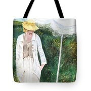 Lady And The Umbrella Tote Bag