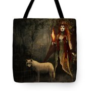 Lady And The Wolf Tote Bag
