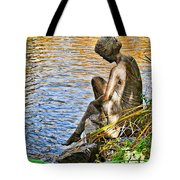Lady And Water Tote Bag