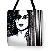 Lady At The Door Tote Bag