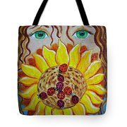 Lady Bug Peace Tote Bag