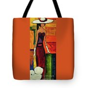 Bichon Frise Lady Tote Bag