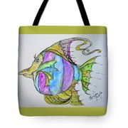 Lady Fish  Tote Bag