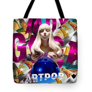 Lady Gaga Graphic Art Tote Bag