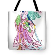 Lady He Of The Eight Immortals Tote Bag