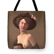 Lady In A Hat Tote Bag by Felix Edouard Vallotton
