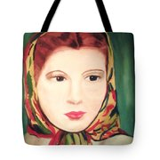 Lady In A Scarf Tote Bag