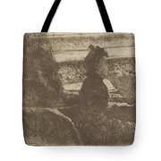 Lady In Black, In A Loge, Facing Right Tote Bag