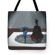 Lady In Blue 3d Tote Bag