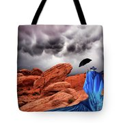 Lady In Blue Nevada Tote Bag