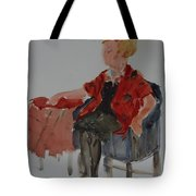 Lady In Chair Tote Bag