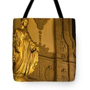 Lady In Gold Tote Bag