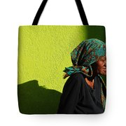 Lady In Green Tote Bag